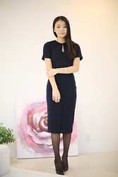 Hyo seon Ji - Navy Dress - Navy dress