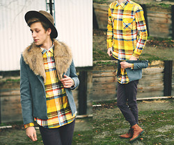 Adrian Kamiński - Shirt, Pants, Sammydress Coat - FASHIONABLE CHECKERED