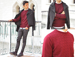David Guison - River Island Sweater, Forever 21 Jacket - Let it Snow
