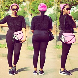 Jennifer Agwunobi - Hashtag Fash Neon Pink Beanie, Today I'm Me Shoulder Bag, Nike Air Roshe Run - ❤ Subscribe to Bootyfurl on Youtube ❤