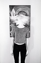 Zoe Belle Elyse - Urban Outfitters Tweed Crop Top - Tweed tops