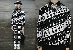 Andre Judd - Parental Advisory Sweater, Trompe L'oeil Pendant And Neckpiece, Parental Advisory Sweatpants, Trompe L'oeil Frames - PARENTAL ADVISORY