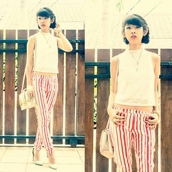 Marcella Margareth - Stradivarius Lace Top, Asos Bag, Zara Stripes Pants, Urbanog Heels - Stripes