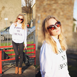 Gema L - Asos Jumper, Zara Bag, Asos Sunglasses, Topshop Boots - Pardon my french