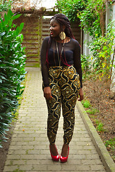 Diane A - Forever 21 Dress Worn As Top, Custom Made African Prints Pants - When You're Holding Me Tight, I Feel Alive