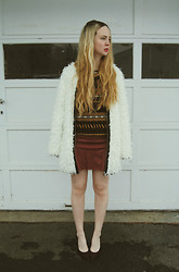 Stacey Belko - Zara Sweater, Ladakh Coat, Sheinside Skirt, Steve Madden Wedges - Steve madden - sekurity #1.