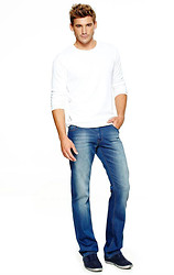 Eric M - Suade Lace Up Shoes, Levi's® White Washed Jeans, American Eagle White Long Tee -  A Clean Slate