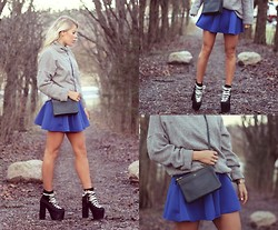 Julie W - Choies Skirt, Unif Shoes, Zaea Knit, Céline Bag - Snow please come back