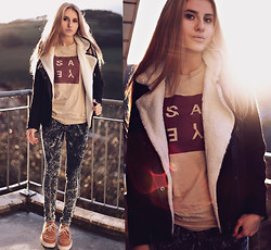 Jessica Christ - 304 Clothing Top, Choies Jacket, Underground Creepers, Jeans - Say yes