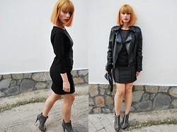 Betty Passia - Bellino Dress, My Collection Jacket - Black and grey