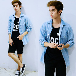 Michael Fernandez - Baleno Denim Shirt, Converse Shoes - 49