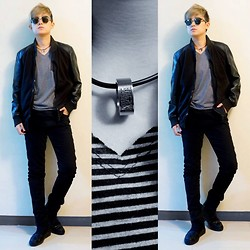 CYB ★ Elizalde - Ray Ban Clubmaster, Black Leather & Suede Jacket, Krisvanassche High Top Sneakers - New Year's Eve 2013