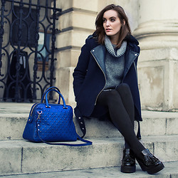 Anouska Proetta Brandon - Office Shoes, Milly Ny Bag, Sandro Coat, Zara Knit - New & Old.