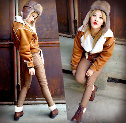 Chanssy X. - Vintage Coat, Vintage Boots - ★━HAPPY 2014: Royal Air Force━═★