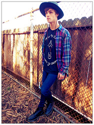 Jarod Wagner - Obey Hat, Unif Tank, Joe's Jeans Joes, Dr. Martens Boots - Pray to Jesus, Party to Satan