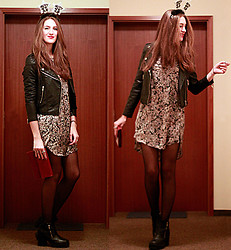 Elif & the RoseMania www.therosemania.com - Mango Jacket, Mango Dress, H&M Boots - Last 2013 Outfit...