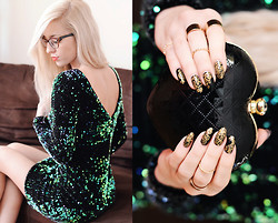 Aneta M - Motel Rocks Dress, Nails - HAPPY NEW YEAR