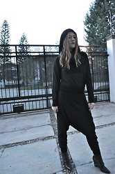 Lizzie Lo - Hussein Chalayan Hoodie, Bershka Pants, Givenchy Boots - Sheer