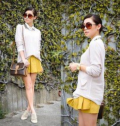 Kryz Uy - Romwe Skort, Zerouv Sunglasses, Wagw Sweater, Tutum Oxfords - Neat Freak