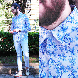 Breno Freitas - Handbook Blue Floral Shirt, Handbook Pants Blue Grey - Floral light.