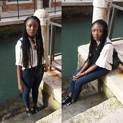 Nomsa Mangena - Vintage Blouse, Topshop Jeans, River Island Shoes - HAPPY NEW YEAR!