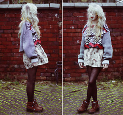 Kayla Hadlington - Wearecow + Diy Jumper, Sheinside Skirt - SOMETHING LOST AND NEVER SEEN