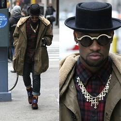 Askia Abdull - Forever 21 Gold Cross Chain, Forever 21 Homburg Hat - The Chill