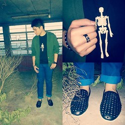 Justin Nalangan - Punkprepdapper Jacket, Forever 21 Shoes, People Are Ring - New shoes New year