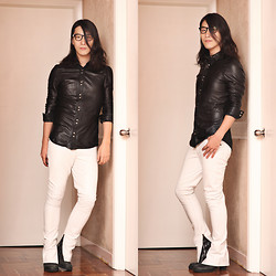 Philip Mak - H&M Leather Shirt, Custom Made Ankle Zip Pants, Rick Owens Leather Boots - Demonic Angel