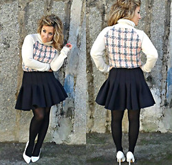 Cátia Barge - Asos Jumper, H&M Skirt, Zara Shoes - Sweet Pink