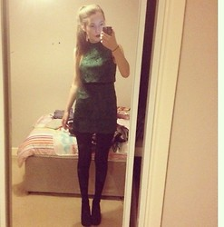 Jessica Belshaw - Topshop Green Lace Dress, Urban Outfitters Black Tights - Carry me