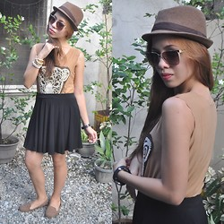 Rovie D. - Sm Accessories Hat, Sprinto Sunnies, Random Top, Cinta Manila Skirt, So Fab Shoes - Eye of the Tiger