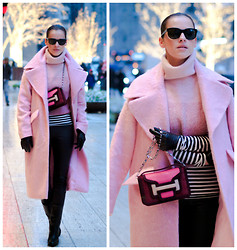 Veronica P - Pierre Hardy Bag, Asos Coat - Rosy Glow