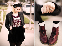 Kaylee H - Dr. Martens Boots, Diy Floral Crown - I Want To Be Sedated