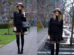 Alison Hutchinson - Holt Renfrew Hat, H&M Top, Zara Skirt, Fiore Tights, Kate Spade Bag - Last of the Holidays