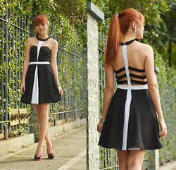 Camille Co - Romwe Dress - Behind Bars