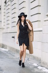 Ania B - Zara Dress, Asos Coat, Pendleton Hat, Zara Booties - Olympic