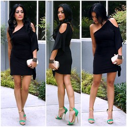 Marina Hidalgo - Forever 21 Lbd Dress, Justfab Clutch, Shoedazzle Heels - Styling My LBD