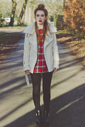Silvy De Jong - Mango Shirt, Sheinside Coat, Sheinside Jeans, Chic Wish Ankle Boots - Morning walks