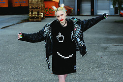 "†Norelle Rheingold† - Local Heroes Fuck & Smile Dress, Diy ""Fuck It"" Leather Jacket - Where has all the time gone?"