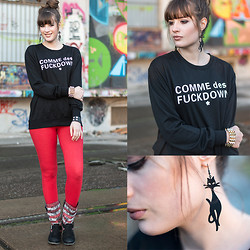 Andrea Funk / andysparkles.de - Romwe Sweater - Cats & Statement Sweater