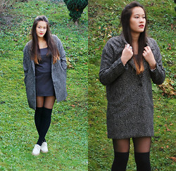 Morgane Phan - Pull & Bear Coat And, H&M Socks, Chanel Lips - First