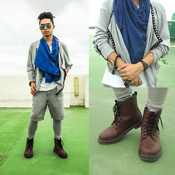 Jason Jase Jamolin - Milanos Leather Maroon Boots, Thrift Shop Cottoned Vest, Casio Watch, Maldita Man Tank Top - Coeval