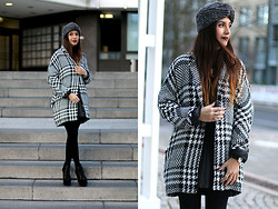 Leticia Neidl - Mango Coat, Asos Hat, Jeffrey Campbell Boots - Colorless.