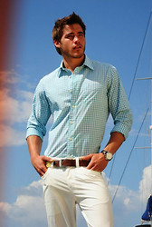 Eric M - Faded Glory Country Style Shirt, George White Slacks, American Apparel Brown/Tan Belt - Oceans of Dreams