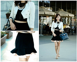 Khai Nunag - Tailored Blazer, Fit And Flare Skirt, Necklace - Sophie