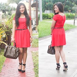 Glaiza Homez - H&M Dress, Louis Vuitton Bag, Forever 21 Belt, Bugis Heels - CHRISTMAS