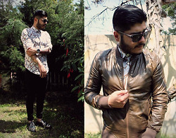Duvan Henao - Zara Bomber Leather, Dr. Martens Brogue Silver, Zara Vintage Track - If you want, find