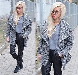 Aneta M - Choies Coat, Choies Pants, Nike Roshe Run - LEATHER PANTS