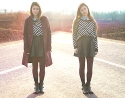 Andreea Mircea - New Yorker Sweater, Pull & Bear Skirt, I Am Collar Tips - Light